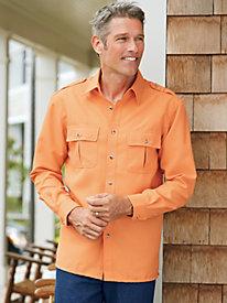 John Blair Linen-Look Pilot Shirt