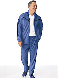 John Blair Accent-Stripe Jog Suit