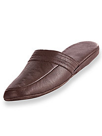 Irvine Park� Leather Scuff Slippers