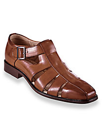 1940s Style Mens Shoes Stacy Adams Leather Fisherman Sandals $52.79 AT vintagedancer.com
