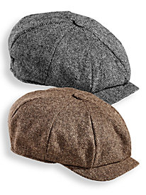Men's Vintage Style Hats Scala Tweed Newsboy Cap $39.99 AT vintagedancer.com