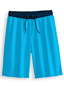 Scandia Woods Contrast-Waist Swim Trunks
