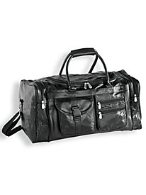 Patchwork Leather Duffel Bag