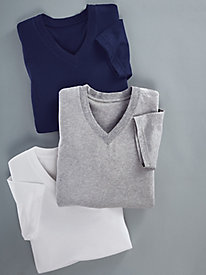 Signature Cotton Knit V-Neck Undershirts