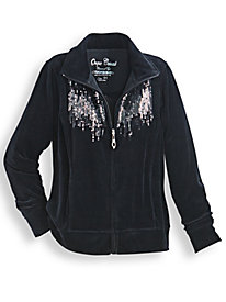 Velour Sequined Jacket