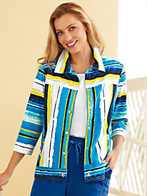 Blue Belle Striped Jacket