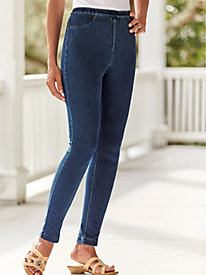 Knit Denim Leggings