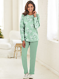 Paisley Print Fleece Set
