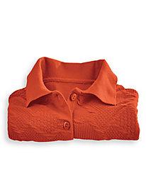 Jacquard Knit Polo Top