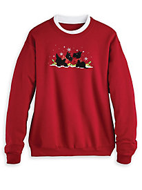 Holiday Embroidered Sweatshirt