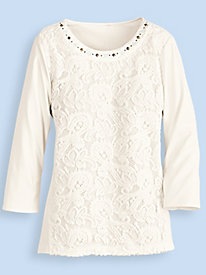 Twilight Point Lace Top by Alfred Dunner