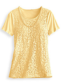 Lace Top With Necklace