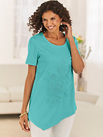 Asymmetrical Embroidered Tunic