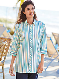Shadow Stripe Big Shirt