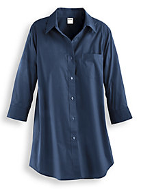 Wrinkle-Resistant Big Shirt