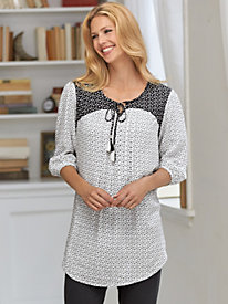Twin Print Dot Tunic