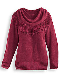 Chenille Sweater with Scarf