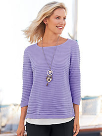 Ribbed Shirttail Sweater