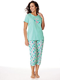 Print Pedal Pusher Pajama Set