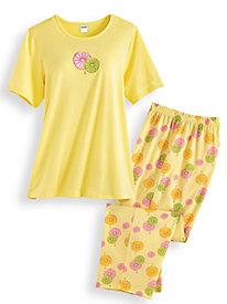 Print Capri Pajama Set