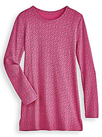Printed Long-Sleeve Fresh® Tunic