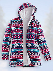 Printed Scandia Fleece® Jacket with Sherpa Lining