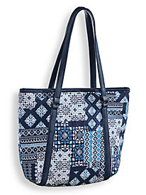 Patchwork Print Tote