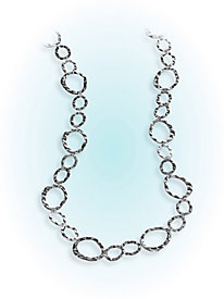 Long Hammered Necklace
