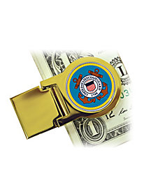Coast Guard Quarter Money Clip