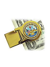 Army Quarter Money Clip