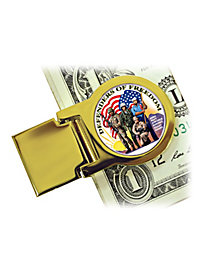 Defenders of Freedom NY Quarter Money Clip
