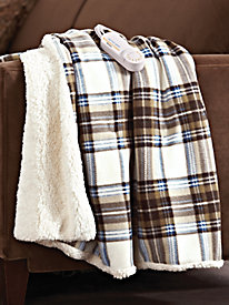 Comfort Knit Plaid Warming Throw