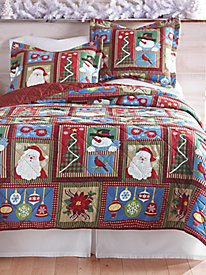 Holiday Patchwork Quilt Set