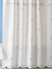 Forget-Me-Not Shower Curtain