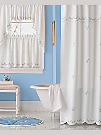 Forget-Me-Not Shower Curtain and Accessories