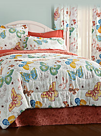 Happy Flight Butterfly Comforter Set