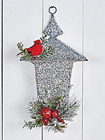 LED Cardinal Pine Lantern