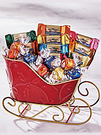 Holiday Sleigh Candy Basket