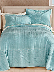 Clamshell Chenille Bedspread and Sham