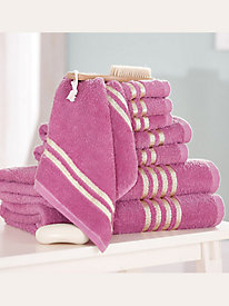 Grosgrain Ribbon 8-Piece Bath Towel Set