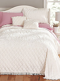 Chloe Diamond Chenille Bedspread and Coordinates