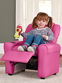 Kids' Embroidered Recliner with Cup Holder by Blair