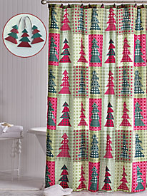 Holiday Shower Curtain Set and 3-Piece Towel Set