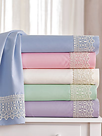 Lace Microfiber Sheet Set & Bonus Pillowcases