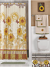 Spring Shower Curtain Set