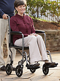 Lightweight Steel Transport Wheelchair