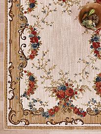 4 mohawk floral swag border rug - Mohawk Area Rugs