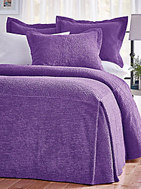 Richland Tailored Chenille Bedspread and Sham