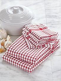 Country Check 2-Pack Towel & 4-Pack Dishcloth Set