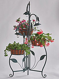 Alcove Solar Light 3-Tier Planter